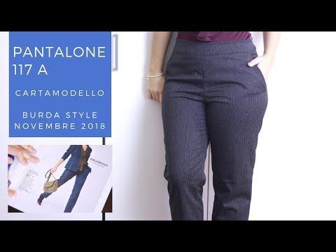 Pantaloni a sigaretta 117 A | Cartamodello Burda Style Novembre 2018 | Un punto alla volta