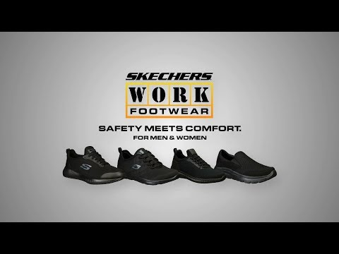 SKECHERS SAFETY SHOES 77144 Blk Composite Toe