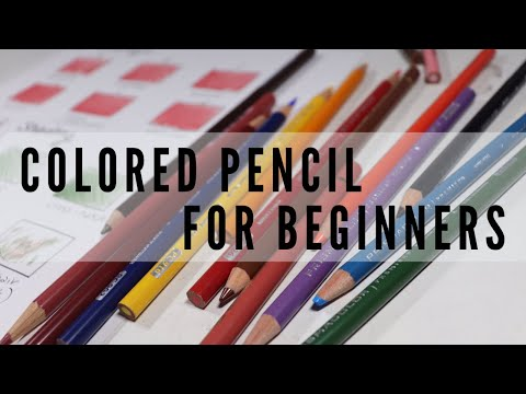 EASY COLORED PENCIL EXERCISES FOR BEGINNERS