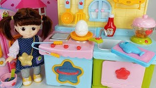 Baby doll kitchen food cooking toys house play - 토이몽