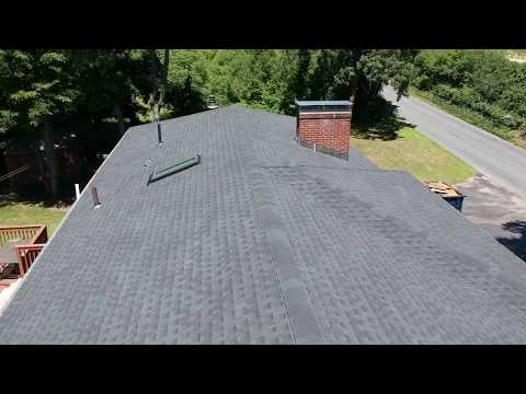Hey everyone! 👋 Take a look at this drone video one of our satisfied home owners created of the roof replacement we completed on their home! We stripped the existing shingles and installed a brand new GAF charcoal Timberline HD roofing system. Thanks Mike for the fabulous video!