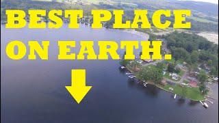 **Paradise Found**. DJI Phantom drone footage of Lamoka Lake, New York (Finger Lakes).