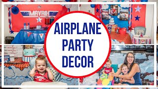 Airplane Birthday Party Decorations (Top Gun Birthday)