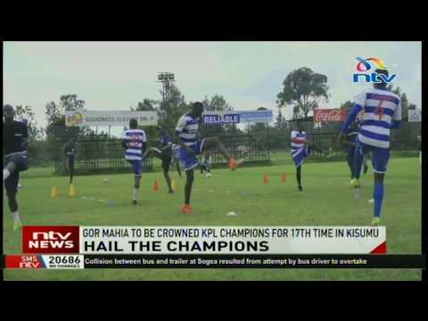 Gor Mahia to be crowned  KPL champions for the 17th time in Kisumu