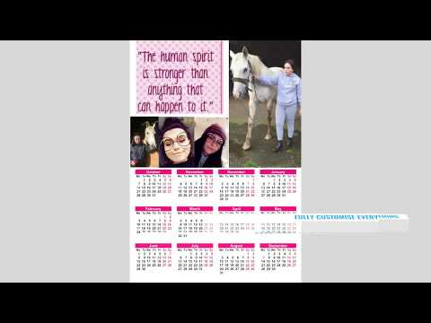 Photo Calendars Glasgow 12 page, 6 page, 4page, 2 page and 1 page