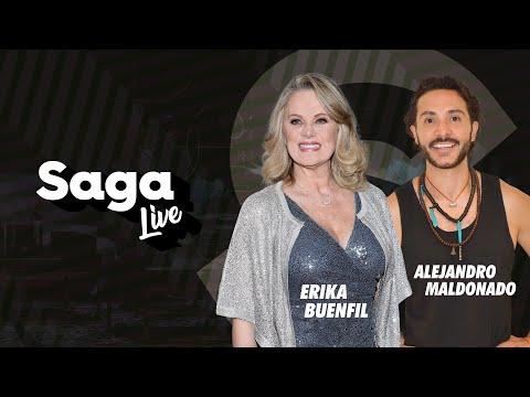 Erika Buenfil y Alejandro Maldonado con Adela Micha