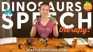 Dinosaur Activities For Speech Therapy By Peachie Speechie