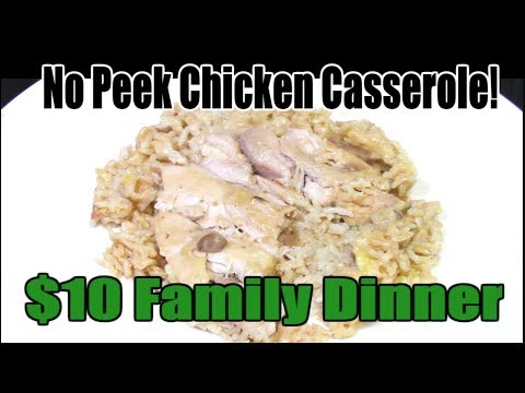 No Peek Chicken Casserole - $10 Budget Meal Recipe - The Wolfe Pit