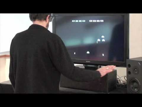 Space Invaders, Played With Kinect