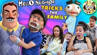 Hello Neighbor Tricks FGTEEV Family!  Duddz in Trouble! (Funny Jumping Game + Skit)