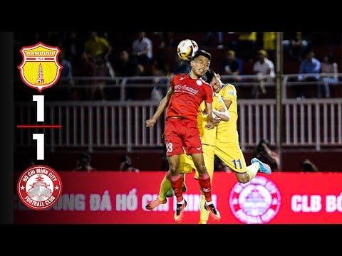 Highlight Nam Định 1 -1 TP HCM   Nam Định Đánh Rơi Chiến Thắng Trước HCM Trên Sân Thiên Trường