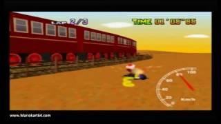 """Mario Kart 64 - Time Trials - Kalimari Desert 2'08""""86 King C [N64 PAL]"""