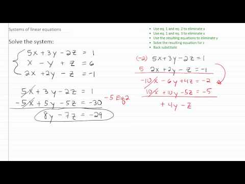 Solving Linear Systems p2