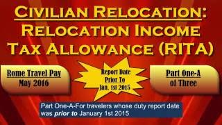Civilian Relocation Income Tax Allowance (RITA): Part 1-A of 3