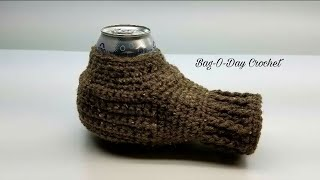 HOW TO CROCHET - CAN COZY | The Beverage Buddy | BAG O DAY CROCHET  Tutorial #459