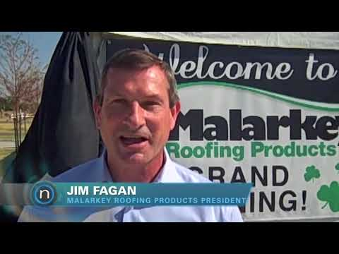 Malarkey Roofing Products opens factory in OKC (2012-08-09)