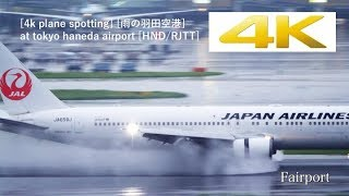 [4k Plane Spotting] [雨の羽田空港] Panasonic LUMIX DC-GH5 At Tokyo Haneda Airport [HND/RJTT]