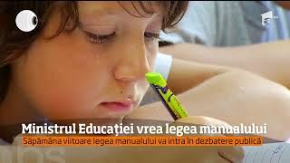 Ministrul Educaţiei Vrea Să Facă Ordine în Manualele şcolare