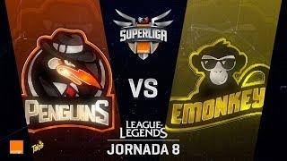 PENGUINS VS EMONKEYZ   Superliga Orange J08   Partido 1   Split Verano [2018]