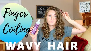 Finger Coiling Wavy Hair (2A, 2B, 2C Hair) -- Will This Work???