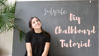 DIY Giant Chalkboard Tutorial | Lindsay Brooke