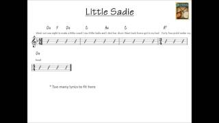 Little Sadie bluegrass backing track