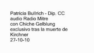 JULIO COBOS & PATRICIA BULLRICH  TRAS LA MUERTE DE NESTOR KIRCHNER  EXCLUSIVO 271010