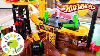 Cars  | Hot Wheels Toys And Fast Lane Construction Vehicle Playset - Fun Toy Cars