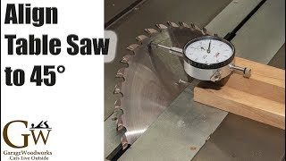 45 Degrees at the Table Saw Quickly and Accurately