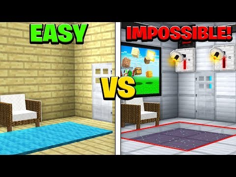 EASY vs IMPOSSIBLE MINECRAFT ROOM!