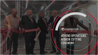 Carpenter Technology Corp., Athen Operations Ribbon Cutting Ceremony