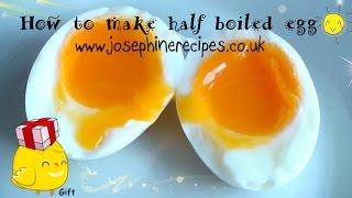 Gambar cover How to make half boiled egg 3分鍾煮溫泉蛋