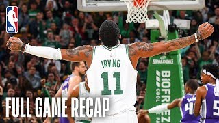 KINGS vs CELTICS   Kyrie Irving Records His 2nd Triple-Double Of His Career   March 14, 2019