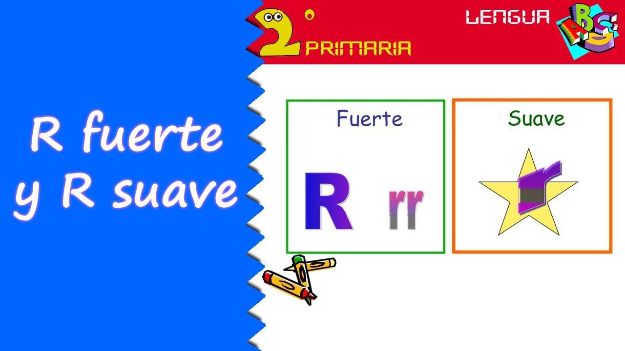 Lengua Castellana. 2º Primaria. Tema 9. Ortografía: R fuerte y R suave