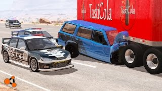 Beamng drive - Police Chases Take Down #3 (real sounds, interception crashes)