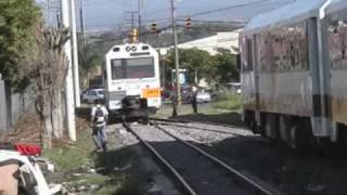 preview picture of video 'Cruce de trenes Apolos'