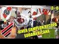 RIVER 3 PARANAENSE 0 - REACCIONES DE HINCHAS DE RIVER - RIVER CAMPEÓN RECOPA SUDAMERICANA