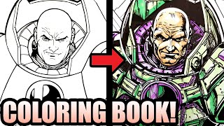 🔥DC COMICS ARTIST INKS & COLORS A 🎨 COLORING BOOK! (SATISFYING!)