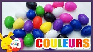Compétition des couleurs - Oeufs surprises pour apprendre les couleurs