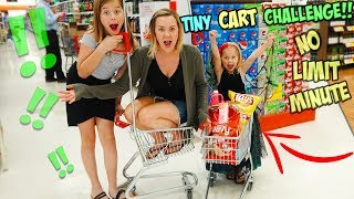 NO LIMIT SHOPPING CHALLENGE!! USING ONLY A TINY CART!!