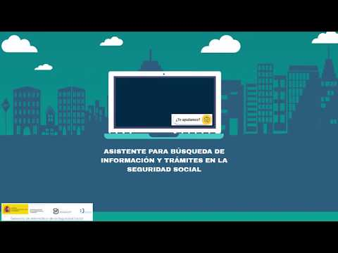 Video explicativo sobre asistente virtual de la página web del INSS