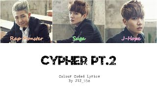 BTS(방탄소년단) - Cypher Pt.2: Triptych (Colour Coded Lyrics Han/Rom/Eng)