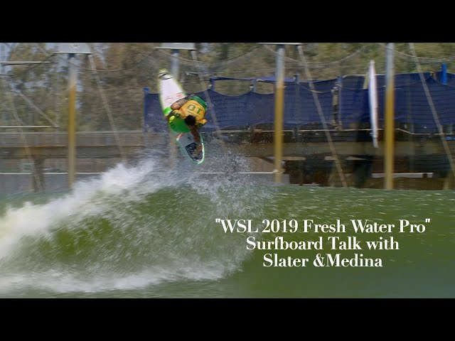 WSL 2019 Fresh Water Pro Surfboard Talk with Slater, Medina, and Colapinto Bros Ep. 1