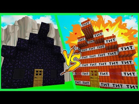 Minecraft TNT HOUSE VS OBSIDIAN HOUSE