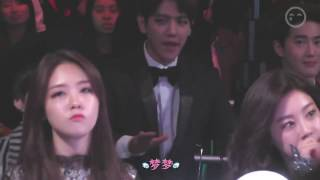 Girl's Day Minah And Sojin Reaction To BTS Danger - MAMA 2014 Ft. Baehyun Suho Seungyoon