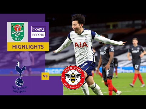 Tottenham v Brentford | Carabao Cup 20/21 | Match Highlights