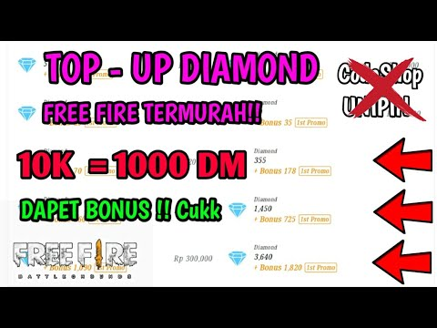 TEMPAT TOP UP DIAMOND FREE FIRE TERMURAH !!! CODASHOP , UNIPIN KALAH !!👌