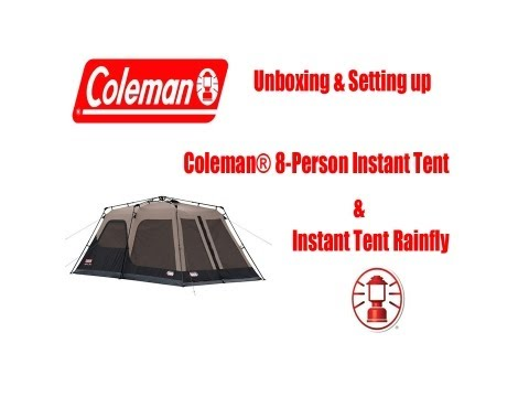 COLEMAN INSTANT TENT & RAIN FLY 14 x 8 - 8 PERSON