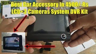 Car Dash Dvr Kit 3 Way Cameras System Detailed Review&Unboxing By M-Tech Urdu/Hindi