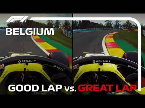 F1 第12戦ベルギーGP(スパ・フランコルシャン)の2020年リカルドのGoodラップとグレートラップ動画